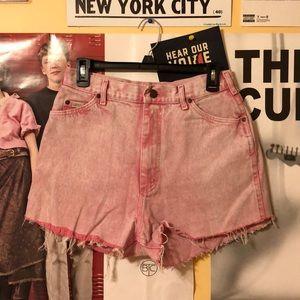 Vintage Lee Acid Washed Shorts